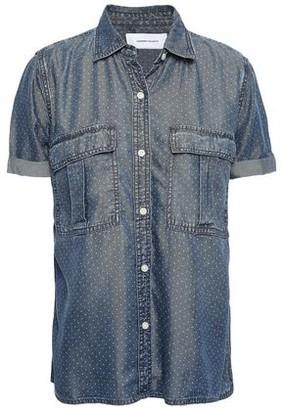 Current/Elliott Polka-dot Denim Shirt
