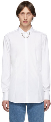 Neil Barrett White Threaded Chain Collar Shirt