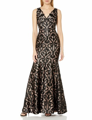Adrianna Papell Women's Sleeveless Guipure Mermaid Gown