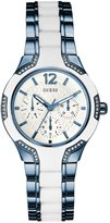 GUESS Blue and White Feminine Style Watch