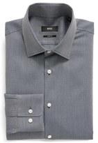 BOSS Sharp Fit Herringbone Dress Shirt