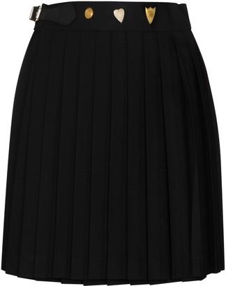 Charles Jeffrey Loverboy Pleated Wool Skirt