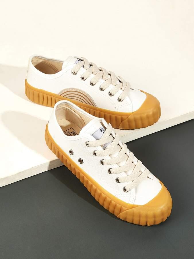 3460ec5164 Shein White Women's Sneakers - ShopStyle