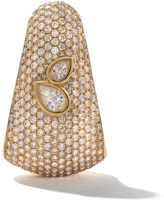 As 29 18kt Yellow Gold Bombee Pear Shaped Diamond Single Earring