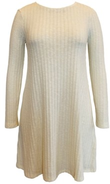 Style&Co. Style & Co Hacci Ribbed Brushed Swing Dress, Created for Macy's