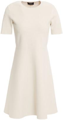 Theory Flared Stretch-knit Mini Dress