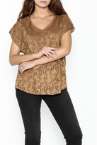 Katherine Barclay Laser Cut Top
