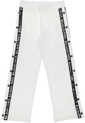 Balmain Cotton Sweatpants W/Snap Button Sides