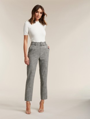Forever New Courtney Check Belted Pants - Check - 4