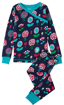 Hatley Children's Harvest Flower Wrap Over Pyjamas, Navy