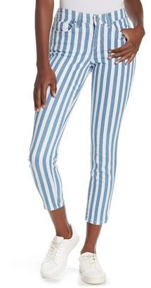 William Rast Perfect Ankle Striped Skinny Jeans