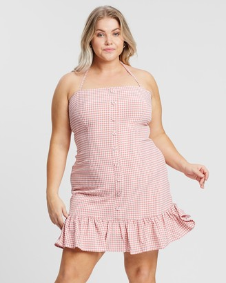 Atmos & Here Gingham Mini Dress