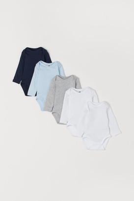 H&M 5-pack Bodysuits - Blue