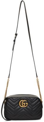 Gucci Black Small GG Marmont 2.0 Camera Bag