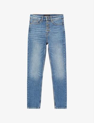 The Kooples High-rise slim-fit denim jeans