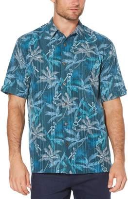 Cubavera Big & Tall Geometric Palm Tree Print Shirt