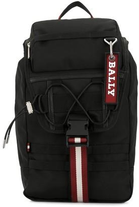 Bally Buckled Logo Backpack
