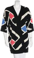 Diane von Furstenberg Short Sleeve Wool Cardigan