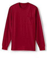 Classic Men's Tall Long Sleeve Super-T with Pocket-Rich Red