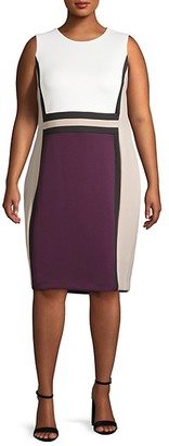 Calvin Klein Plus Paneled Sheath Dress