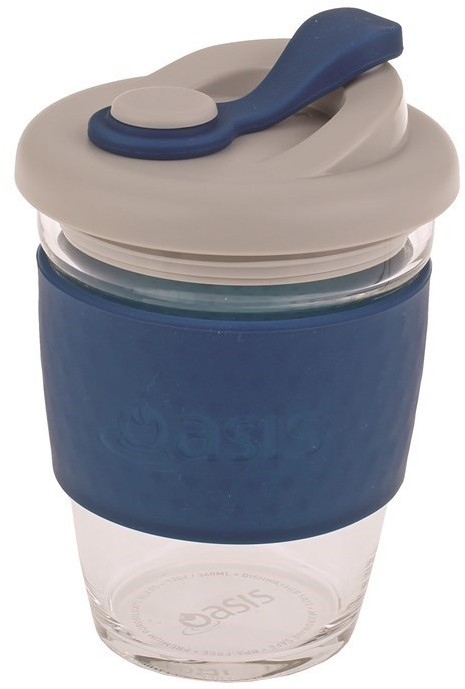 Oasis Eco-Cup Borosilicate Glass Navy 340ml