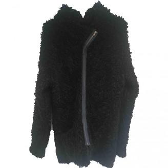 Humanoid Black Wool Coat for Women