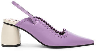 Reike Nen Curved Middle Slingback in Purple & Ivory | FWRD