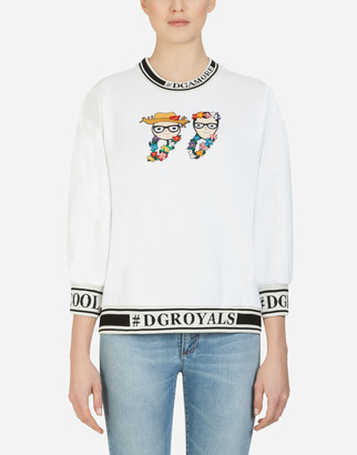 Dolce & Gabbana Round-Neck Sweatshirt With Patches Of The Designers