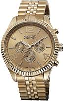 August Steiner Men's AS8096YG Swiss Quartz Multifunction Gold-tone Stainless Steel Bracelet Watch