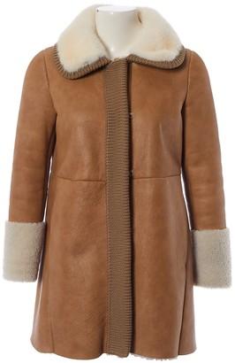 Prada Camel Leather Coats
