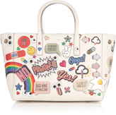 Anya Hindmarch All Over Stickers Ebury small leather tote