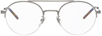 Gucci Silver Semi-Rimless Glasses
