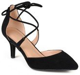 Journee Collection Women's Cairo Lace-Up Ankle Strap Pointed Toe Mary Jane Pumps
