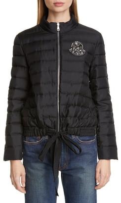 Moncler Prince Crystal Embellished Silk Lightweight Down Jacket