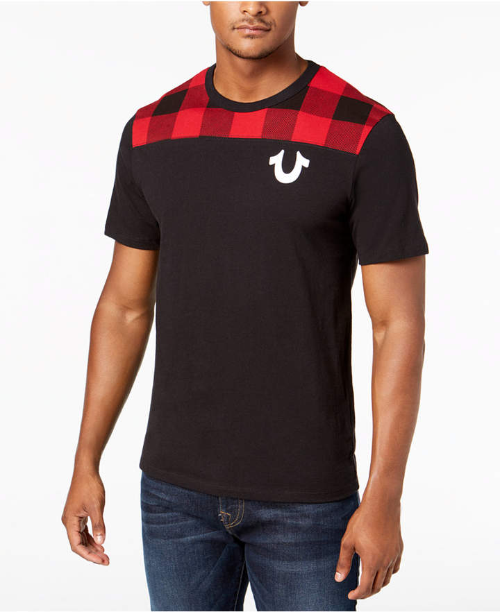 True Religion Men's Buffalo Plaid Graphic T-Shirt