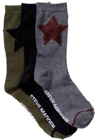 Steve Madden Star Crew Socks - Pack of 3