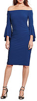 Lauren Ralph Lauren Off the Shoulder Bell Sleeve Jersey Dress