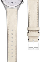 Uniform Wares Women's textured calf watch strap in mist with polished buckle