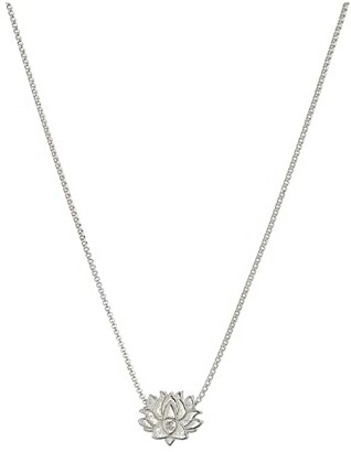 Alex and Ani Lotus Peace Petals 18 Adjustable Necklace (Sterling Silver) Necklace