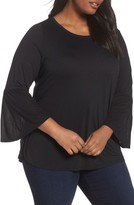 Sejour Plus Size Women's Bell Sleeve Tee