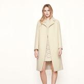 Maje Long boiled wool coat