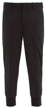 Neil Barrett Cropped-cuff Tailored-gabardine Trousers - Black