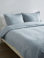 Melange Home Linen-Blend Classic Hemstitch Duvet Set