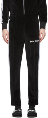 Palm Angels Black Chenille Track Pants