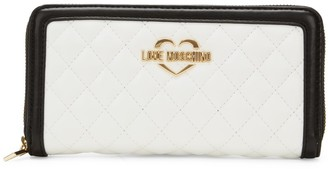 Love Moschino Quilted Faux Leather Wallet