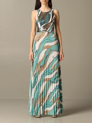 Elisabetta Franchi Long Dress With Sequins