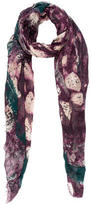 Yigal Azrouel Paint Splatter Printed Scarf