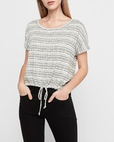 Express Striped Cinched Tie Tee