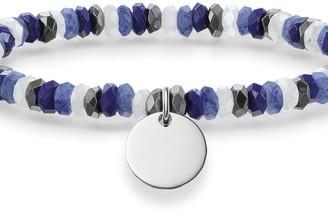 Thomas Sabo Ladies Sterling Silver Love Bridge Boho Blue Bracelet LBA0023-829-7-L15.5