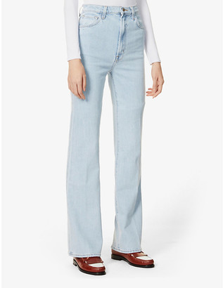 J Brand Runway flared bootcut high-rise jeans